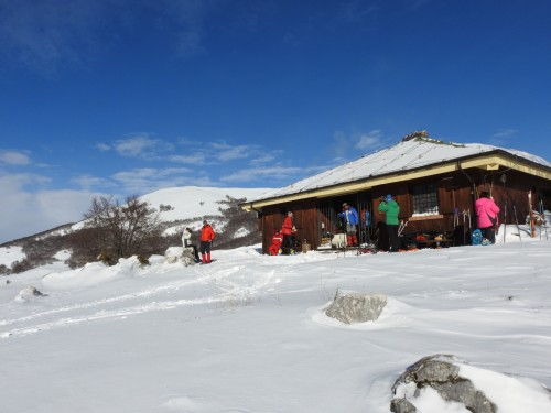 The Cicerana Refuge in the snow